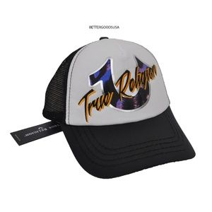 TRUE RELIGION men's Retro Trucker Hat Cap